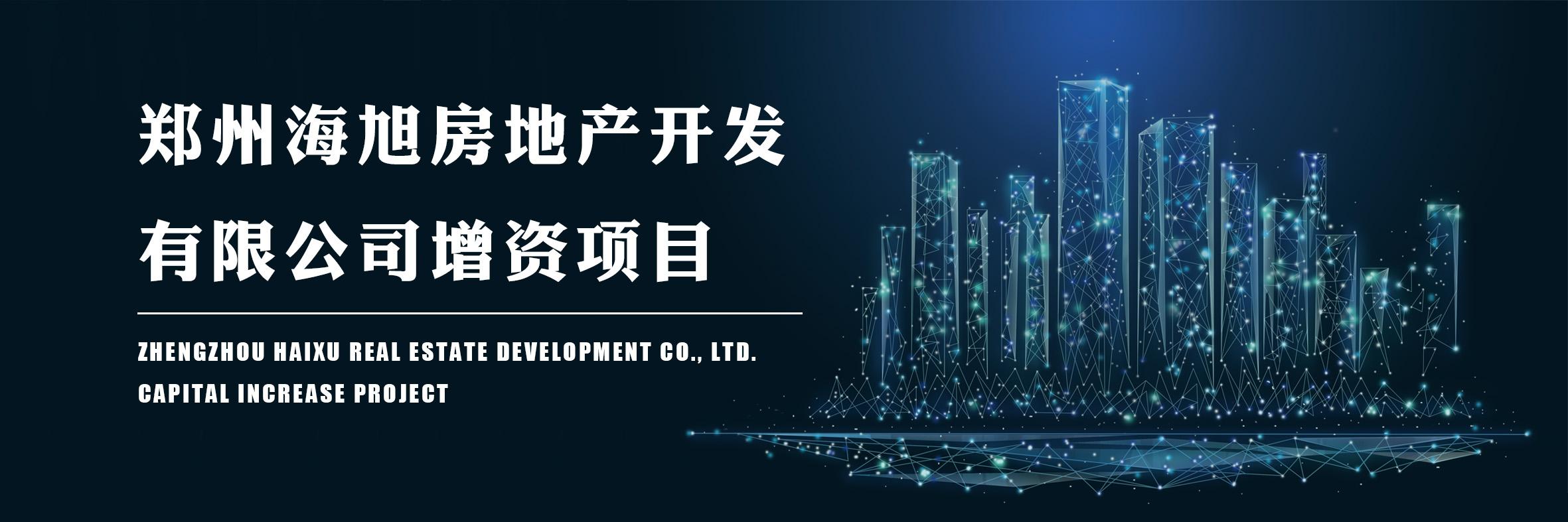 郑州海旭房地产开发有限公司增资项目