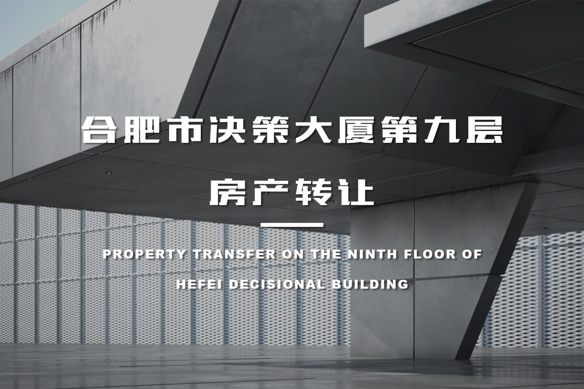 合肥市决策大厦第九层房产转让